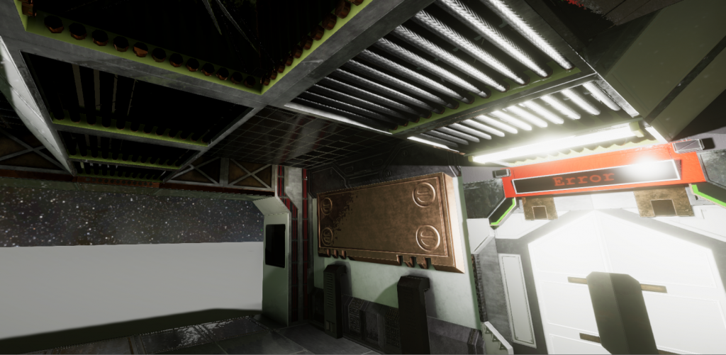 In-game screenshot angle of a room showing different texture effects
